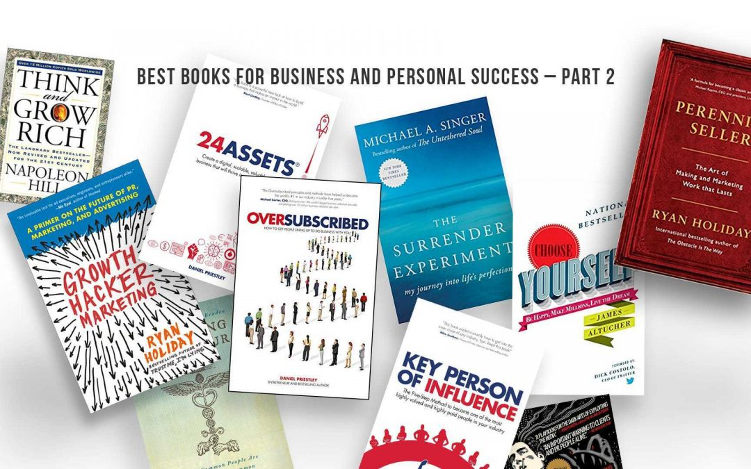 Best Books for Buisness and Personal Success – Part 2